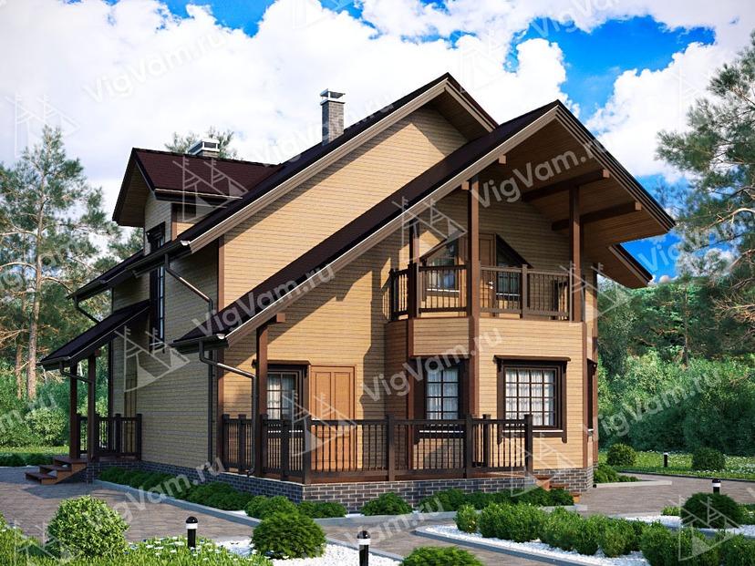 """Каркасный дом с 3 спальнями V390 """"Сент-Питерсберг"""""""