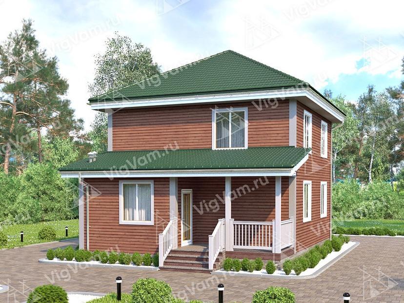 """Каркасный дом с 3 спальнями V388 """"Сими Вэлли"""""""