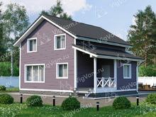 """Каркасный дом с мансардой и 4 спальнями V367 """"Хантсвилл"""""""