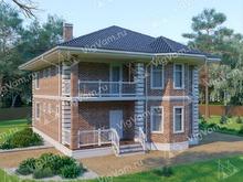 """Каркасный дом с эркером и 3 спальнями V298 """"Чандлер"""""""