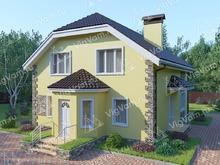 """Каркасный дом с 3 спальнями V323 """"Пуэбло"""""""