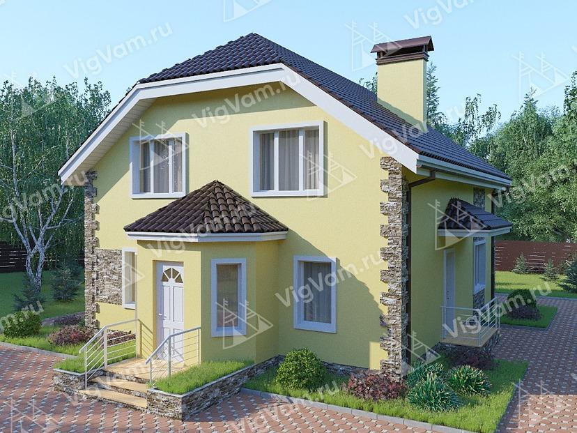 """Дом из керамического блока с 3 спальнями VK323 """"Пуэбло"""""""