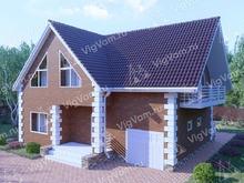 "Каркасный дом с гаражом V322 ""Ланкастер"""