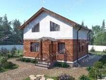 """Каркасный дом с 3 спальнями и мансардой V342 """"Мирамар"""""""