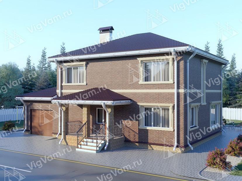 """Каркасный дом с гаражом V321 """"Лансинг"""""""