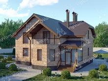 """Каркасный дом с эркером и 3 спальнями V341 """"Модесто"""""""