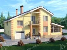 """Каркасный дом с гаражом и бассейном V292 """"Оверленд-Парк"""""""