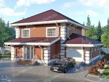"""Каркасный дом с гаражом и 3 спальнями V340 """"Монтгомери"""""""