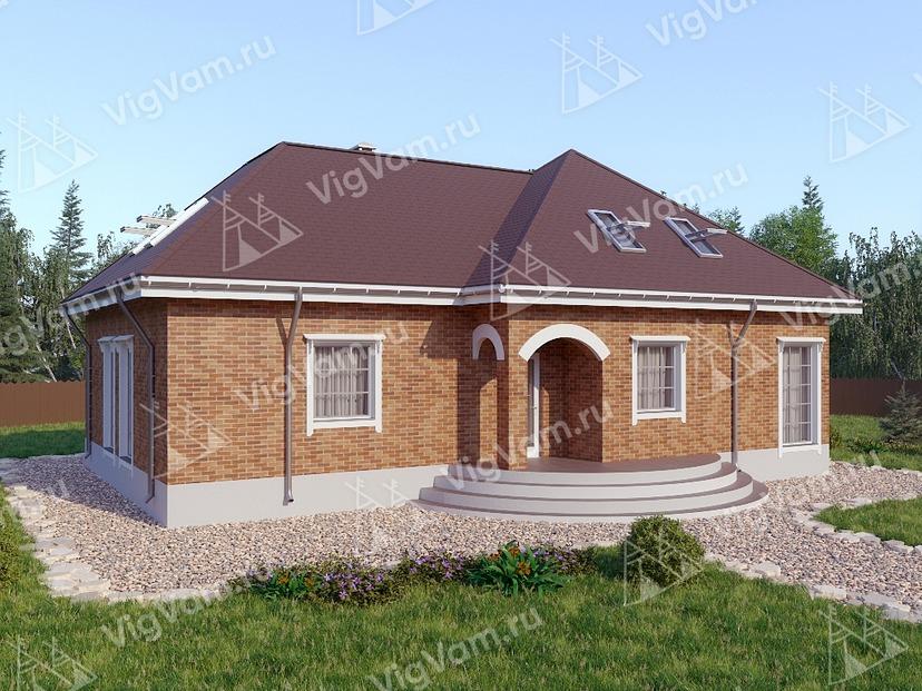 """Каркасный дом с террасой V291 """"Огаста"""""""