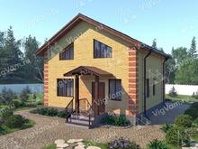 """Каркасный дом с эркером и 3 спальнями V339 """"Морено Вэлли"""""""