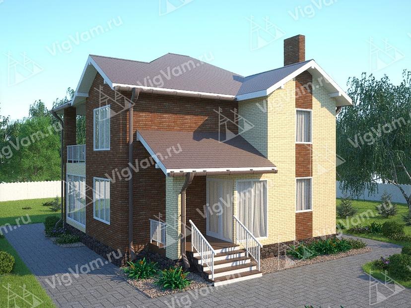 """Каркасный дом с 3 спальнями V318 """"Левисвилл"""""""