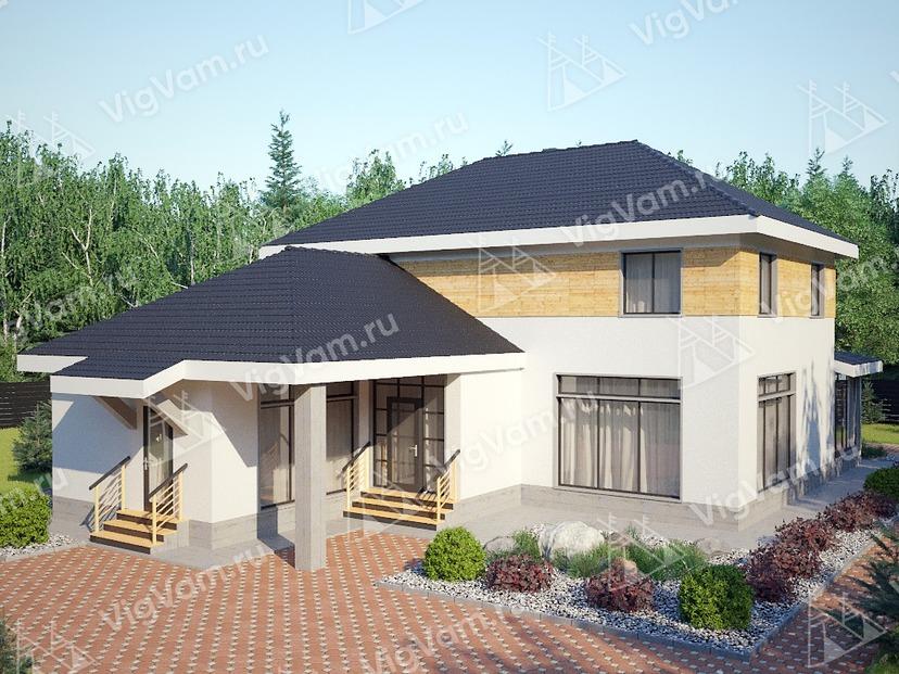 """Каркасный дом с 3 спальнями и сауной V317 """"Лексингтон"""""""
