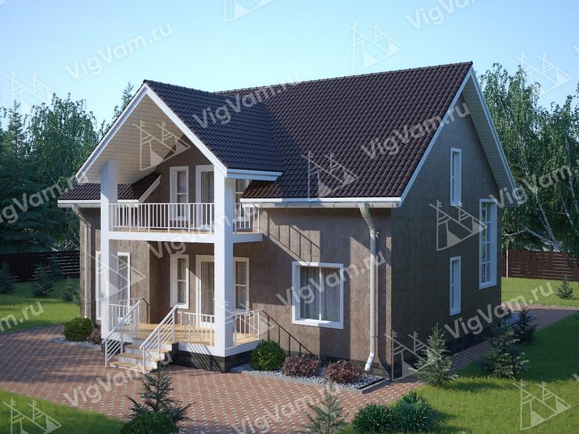 """Каркасный дом с 3 спальнями V312 """"Луисвилл"""""""