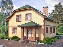 """Каркасный дом с мансардой, эркером и 3 спальнями V334 """"Патерсон"""""""