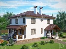 """Каркасный дом с 3 спальнями V310 """"Гарден Грув"""""""