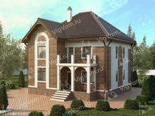 """Каркасный дом с эркером и террасой V356 """"Норман"""""""