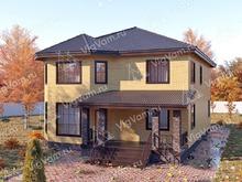 """Каркасный дом с эркером V333 """"Пемброк-Пайнс"""""""