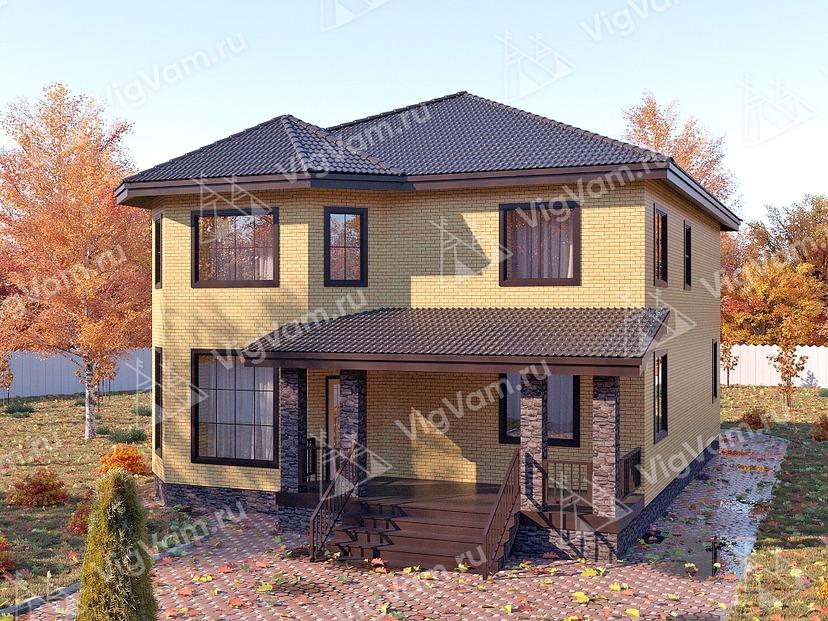"""Дом из керамического блока с эркером VK333 """"Пемброк-Пайнс"""""""