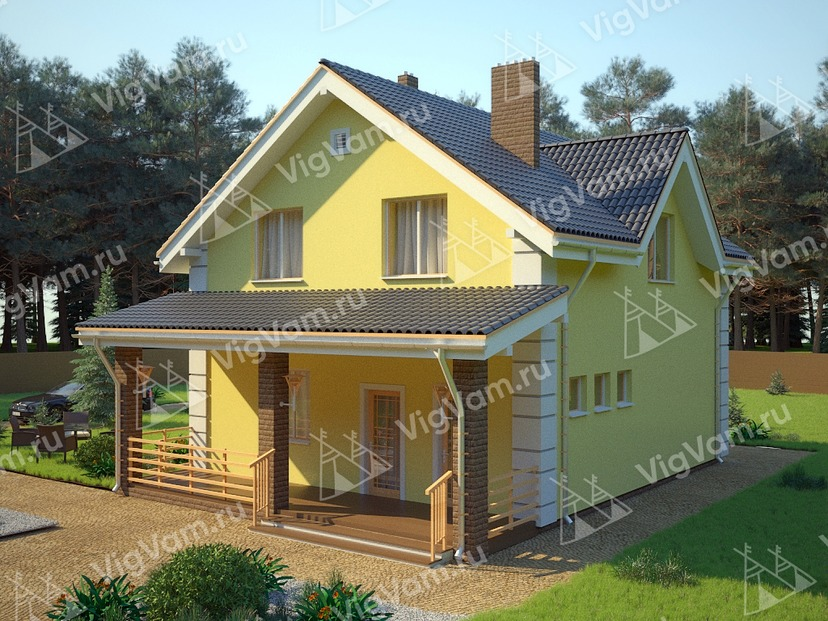 """Каркасный дом с 3 спальнями V314 """"Лонг-Бич"""""""