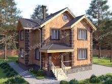 """Каркасный дом с мансардой V354 """"Норфолк"""""""