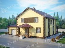 """Каркасный дом с гаражом V307 """"Гилберт"""""""