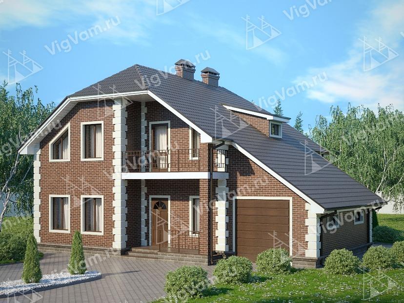 "Каркасный дом с гаражом V306 ""Глендейл"""