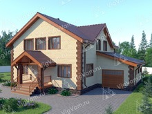 "Каркасный дом с гаражом V331 ""Питтсбург"""