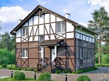 """Каркасный дом с 3 спальнями V330 """"Плано"""""""