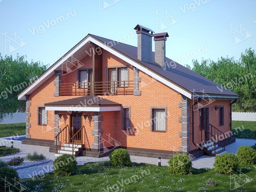 "Каркасный дом с мансардой V305 ""Гранд Прейри-Джордан"""
