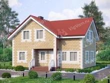 "Каркасный дом с мансардой V363 ""Хьюстон"""