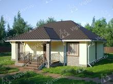 """Каркасный дом с сауной V304 """"Гранд-Рэпидс"""""""