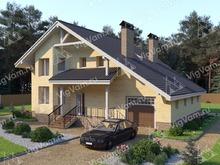 """Каркасный дом с гаражом и 3 спальнями V349 """"Манчестер"""""""