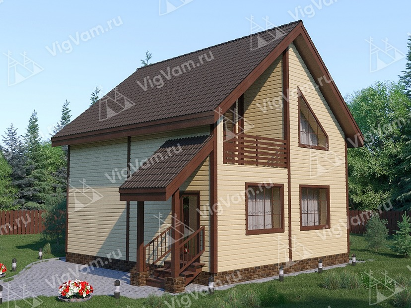 """Каркасный дом с 3 спальнями и мансардой V327 """"Порт Сэнт Люси"""""""