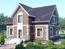 """Каркасный дом с мансардой V326 """"Портленд"""""""
