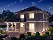 """Каркасный дом с сауной и эркером V347 """"Мерфрисборо"""""""