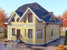 """Каркасный дом с 3 спальнями и эркером V325 """"Провиденс"""""""
