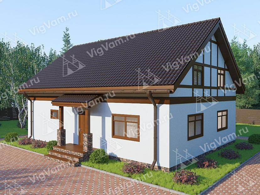 """Каркасный дом с мансардой и 3 спальнями V324 """"Прово"""""""