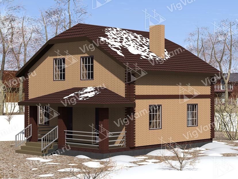 """Каркасный дом с балконом V358 """"Напервилл"""""""