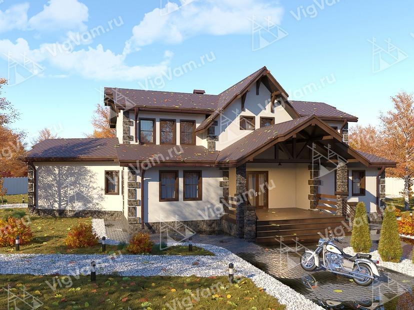 """Каркасный дом с мансардой и вторым светом V346 """"Мескит"""""""