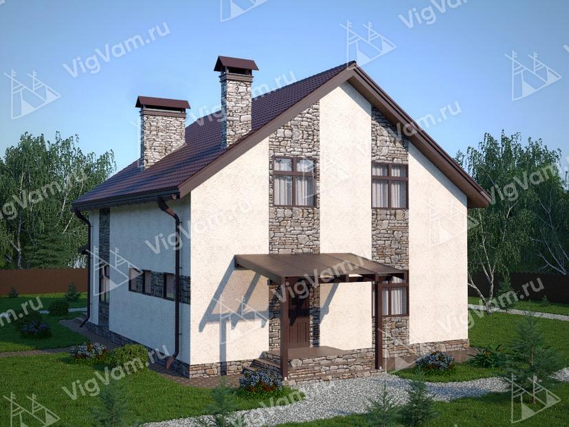 "Каркасный дом с 3 спальнями V300 ""Цинциннати"""
