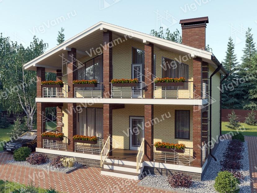 """Каркасный дом с 3 спальнями V345 """"Мидленд"""""""