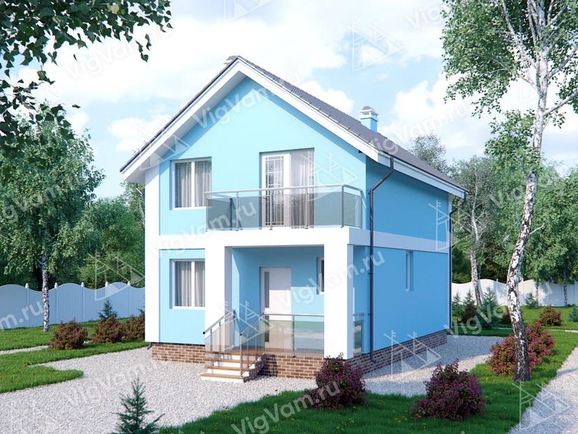 """Каркасный дом с мансардой и 3 спальнями V270 """"Уичита"""""""
