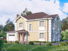 """Каркасный дом с гаражом V248 """"Юкон"""""""