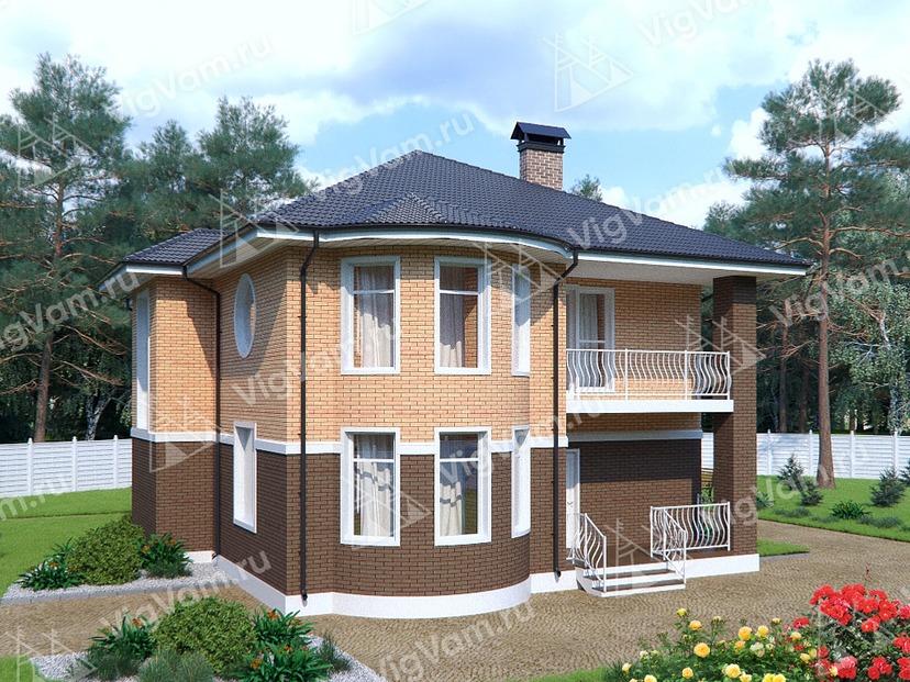 """Каркасный дом с эркером V268 """"Уоррен"""""""