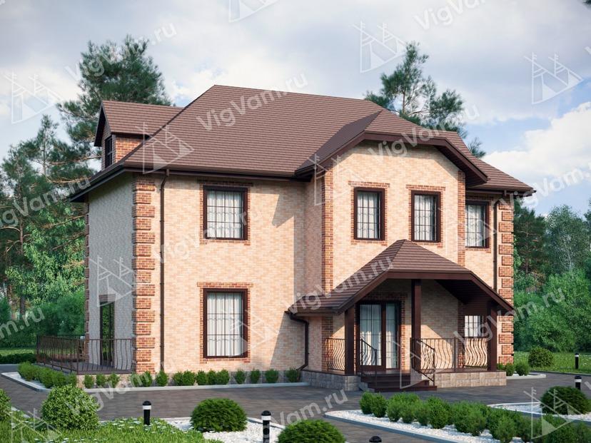 """Каркасный дом с 3 спальнями V246 """"Рио-Гранде"""""""