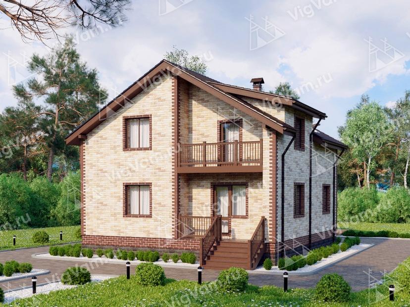 """Каркасный дом с мансардой и 3 спальнями V267 """"Уотербери"""""""