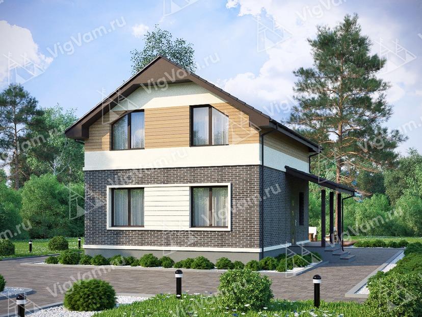 """Каркасный дом с мансардой V266 """"Уэйко"""""""
