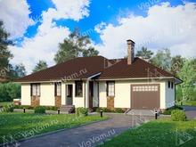 "Каркасный дом с гаражом V244 ""Колорадо"""