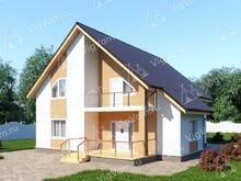 """Каркасный дом с террасой V288 """"Олэйта"""""""
