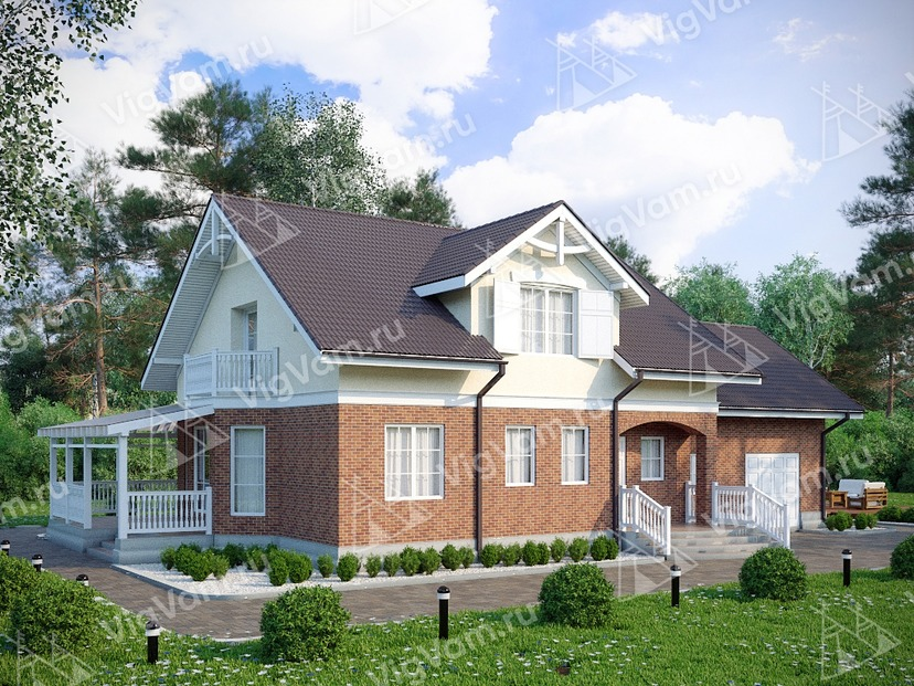 "Каркасный дом с гаражом V264 ""Фейетвилл"""